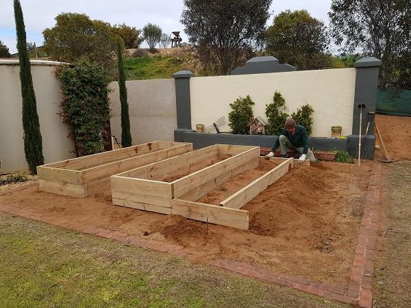 Homemade Garden Bed